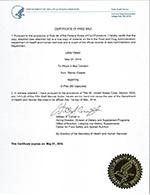 G-Plex Certificate of Free Sale