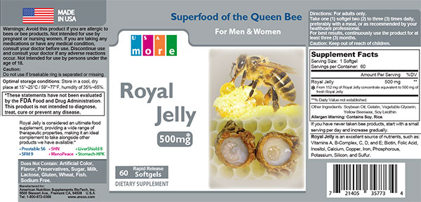 Royal Jelly Product Label