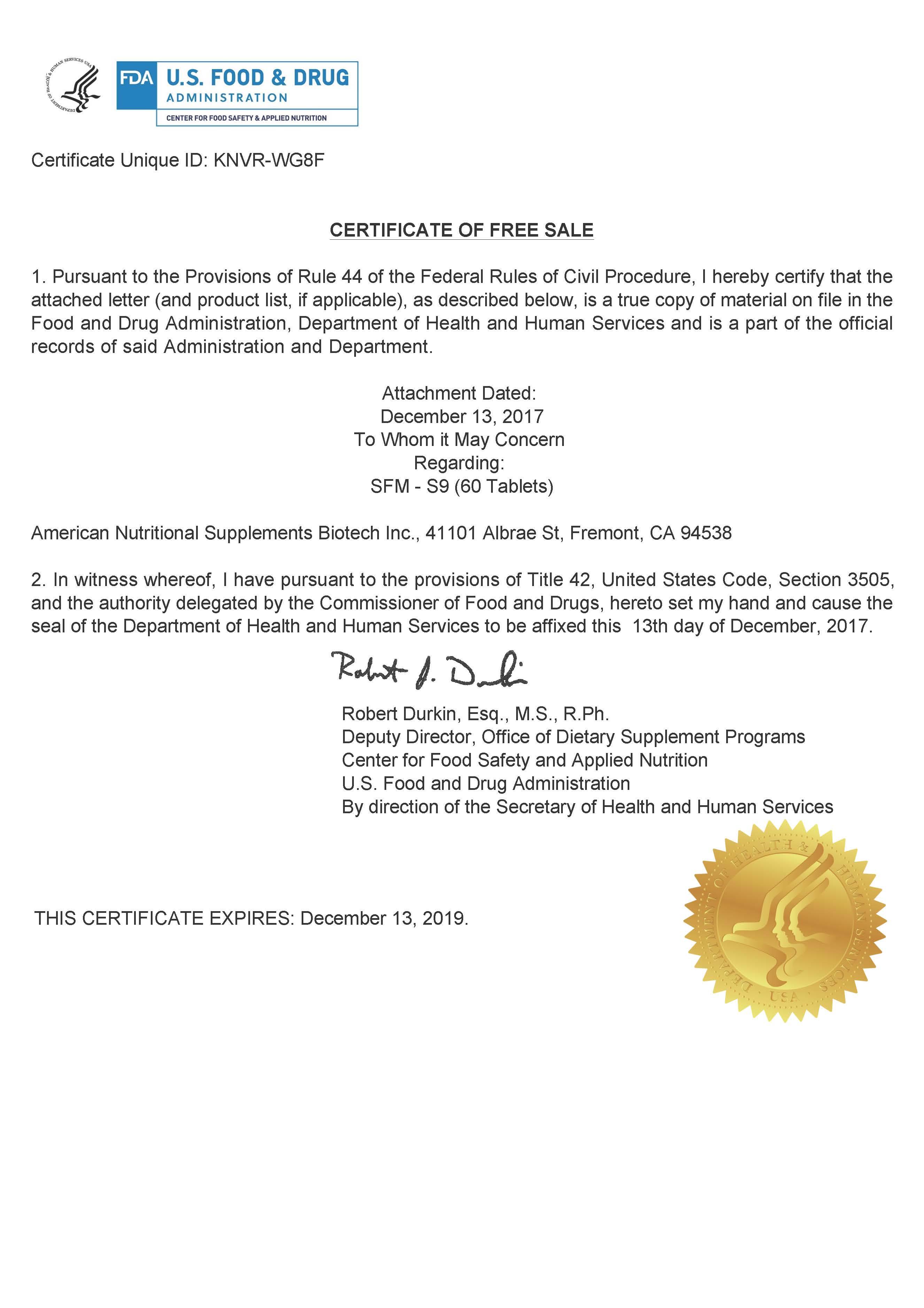 Eeaeuuk cfs or fsc certificate 18th invitation templates sample certificate free sale choice image certificate design and sfm s9 certificate of free sale sample yelopaper Image collections